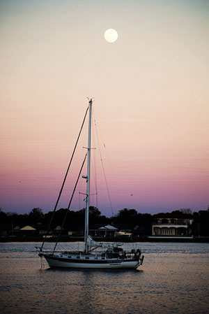 Sailboat in St. Augustine by Phil Johnson