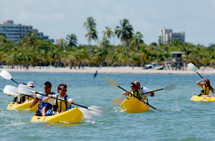 Kayaking in Biscayne Bay