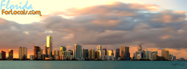 View of Miami from the Rusty Pelican